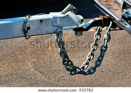 Close-up of a boat trailer hitch - stock photo