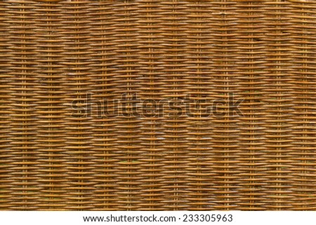 close up of a brown wicker texture - stock photo