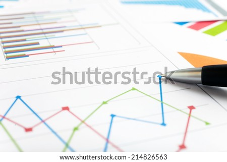 Close-up of a business report - stock photo