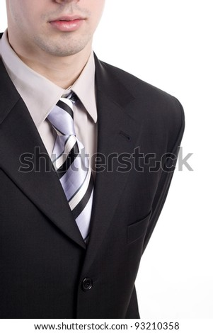 Close-up of a businessman - stock photo