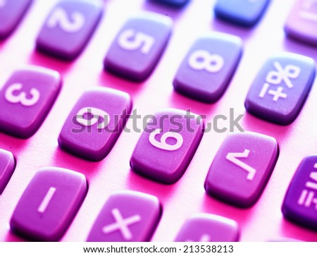 Close up of a Calculator - stock photo