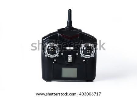 Close-up of a car game controller - stock photo