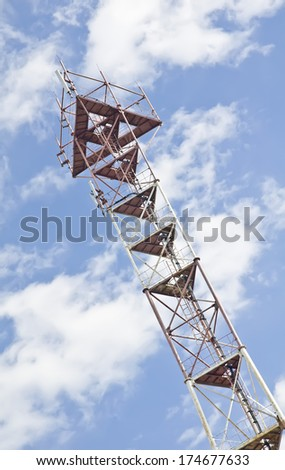 Close-up of a cellular base station - stock photo