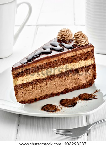 close up of a chocolate cake - stock photo