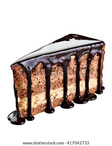 close up of a chocolate cake - stock photo