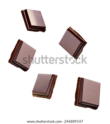 close up of a chocolate on white background - stock photo