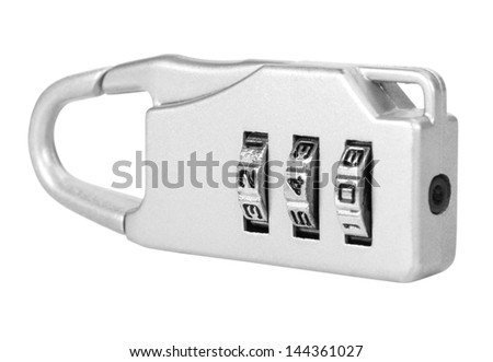 Close-up of a combination lock - stock photo