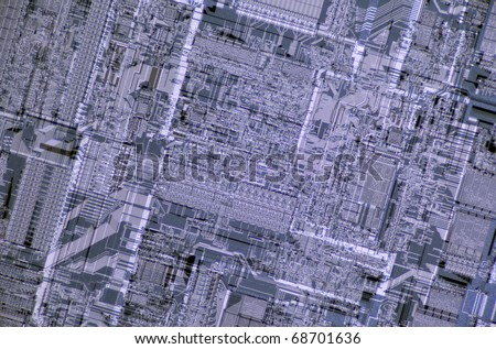 Close-up of a computer central processing unit - stock photo