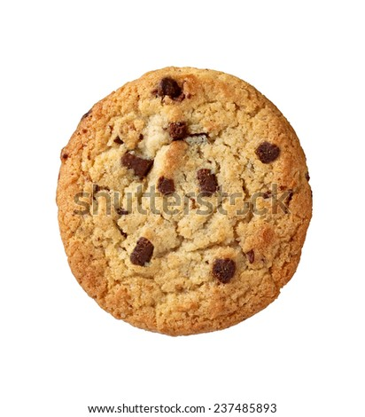 close up of a cookie on white background - stock photo
