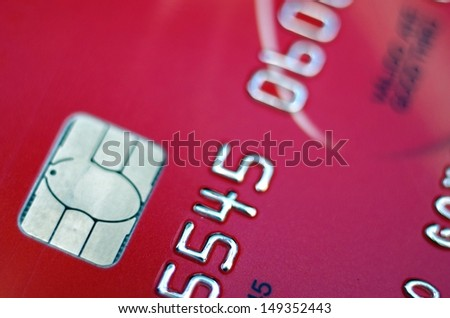 Close-up of a credit card with great colors - stock photo