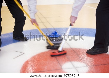 Close up of a Curling situation - stock photo