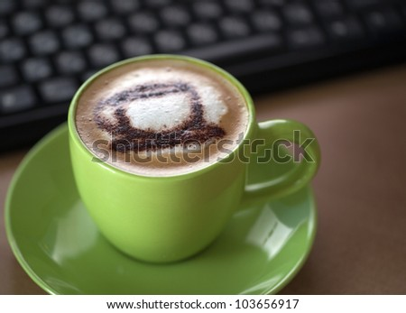 Close-up of a delicious cup of coffee. - stock photo