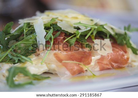 Close up of a Delicious Pasta Meal. - stock photo