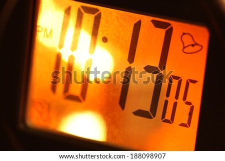 Close up of a Digital timer clock - stock photo