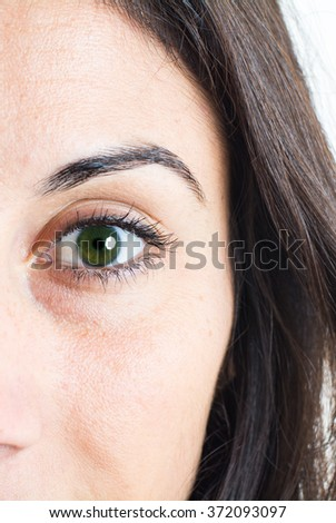 Close up of a eyes  - stock photo