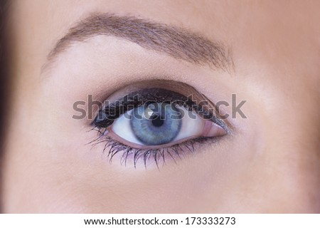 Close up of a Female Eye - stock photo