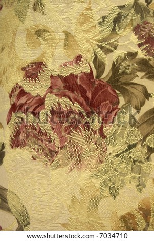 close up of a floral fabric - stock photo