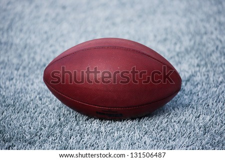 Close-up of a football - stock photo