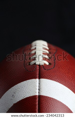 Close Up of a Football with room for copy - stock photo