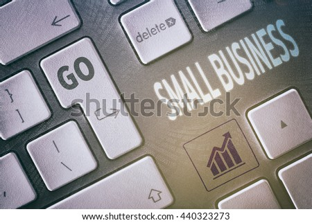 Close up of a keyboard with a Small Business concept.   - stock photo