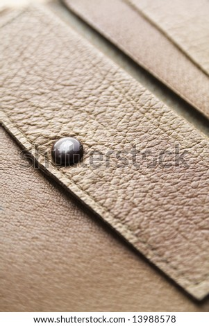 close-up of a leather wallet - stock photo