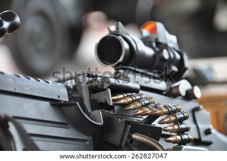 Close-up of a M4A1 (AR-15) - stock photo