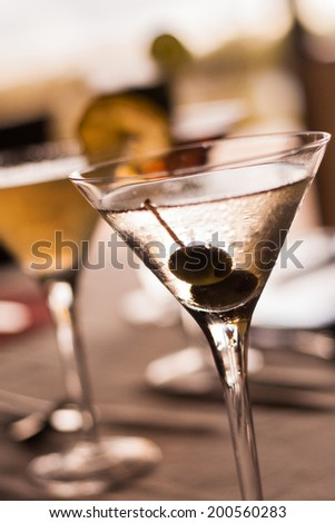 Close up of a Martini Cocktail - stock photo