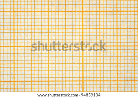 Close up of a measurement grid scale paper background - stock photo
