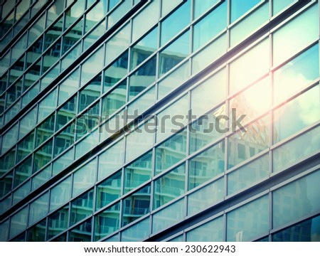 Close up of a modern business building - stock photo
