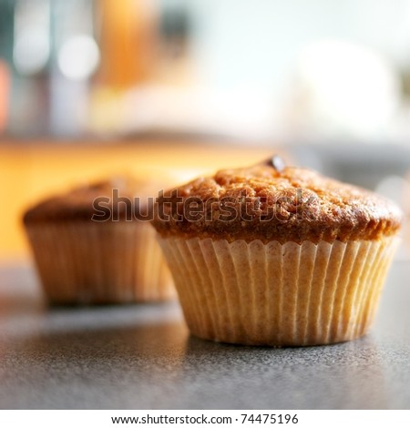 Close-up of a muffin - stock photo