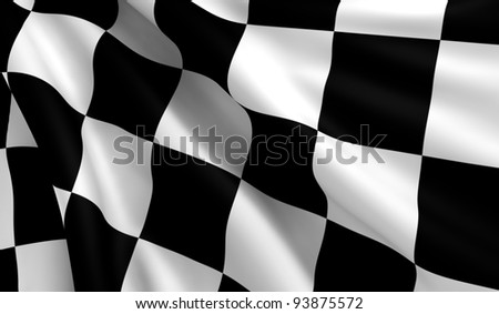 Close up of a nice checkered flag - stock photo