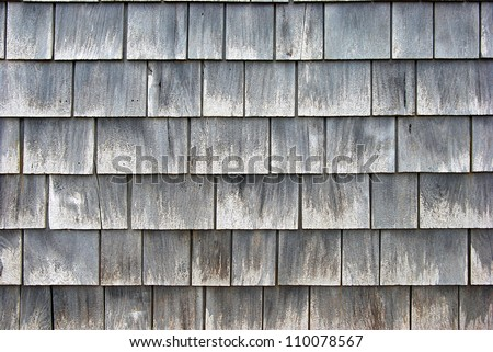 close-up of a old cedar wall plank - stock photo