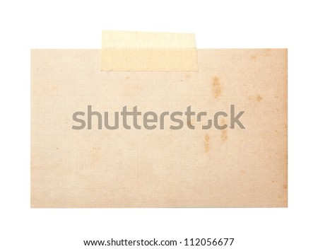 close up of a old postcards on white background - stock photo