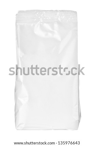 close up of a paper bag on white background - stock photo