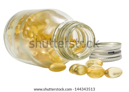 Close-up of a pill bottle - stock photo
