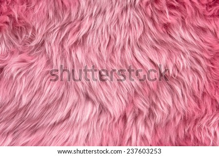 Close up of a pink dyed sheepskin rug as a background - stock photo