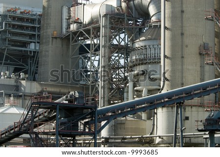 close-up of a power plant - stock photo