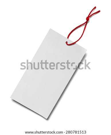 close up of  a price label note on white background - stock photo