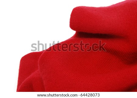 close up of a red textile isolated on a white background - stock photo
