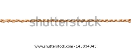 close up of a rope on white background - stock photo