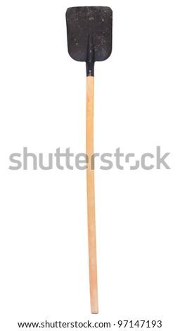 close up of a shovel ribbon on white - stock photo