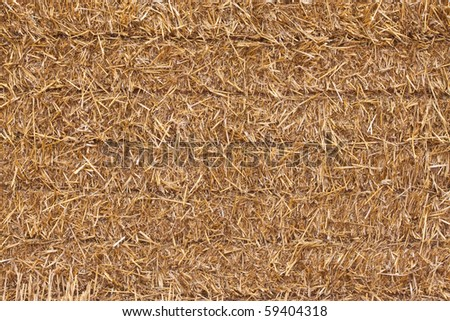 close up of a square hay bale - stock photo