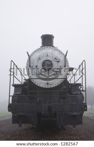 close up of a steam engine - stock photo