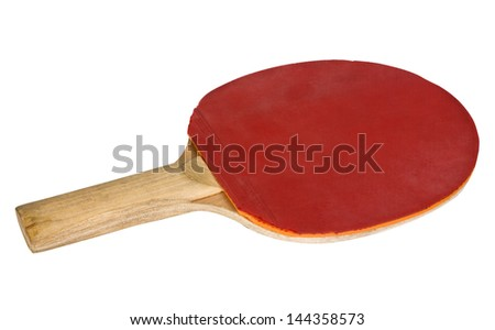 Close-up of a table tennis racket - stock photo
