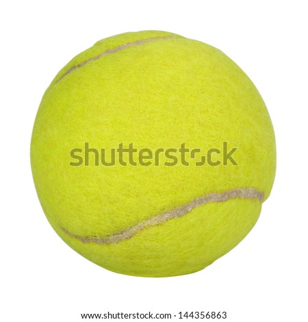 Close-up of a tennis ball - stock photo