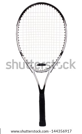 Close-up of a tennis racket - stock photo
