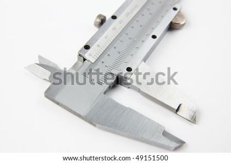 Close up of a vernier caliper tool - stock photo