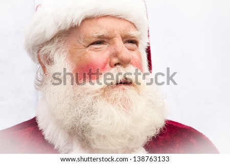 Close up of a very authentic realistic Santa Claus - stock photo