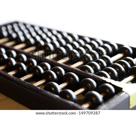 Close up of a vintage abacus - stock photo