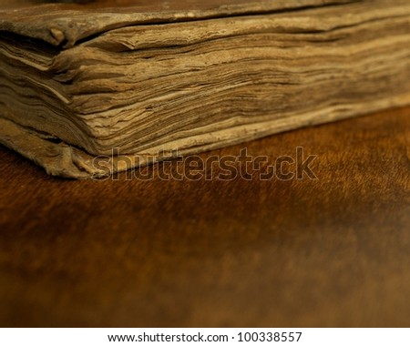 Close-up of a vintage book. - stock photo